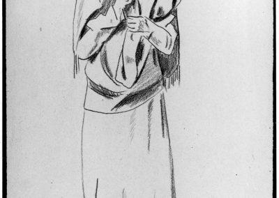 Magnelli - Etude pour la femme au châle