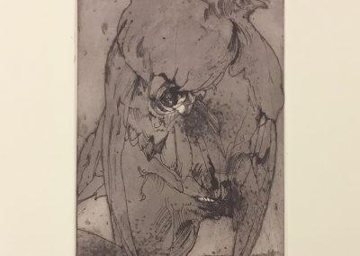 Horst Janssen - Autoportrait à l'aigle