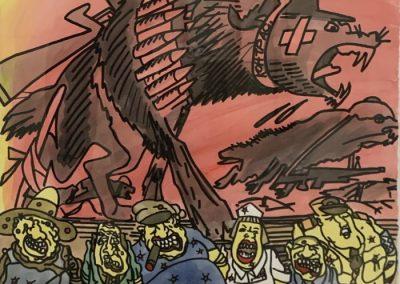 Erró - Warmakers, 2001